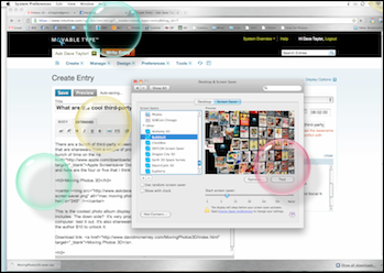 how to get bubbles screensaver on mac