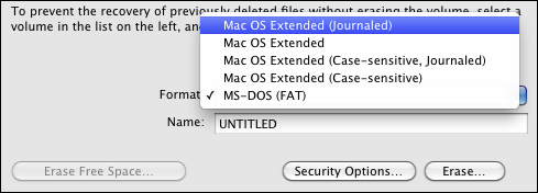 mac disk utility erase pick format extended