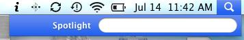 mac finder spotlight icon menu