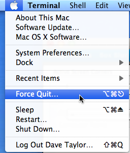 How can I force quit a stuck application in Mac OS X? - Ask