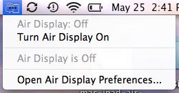 mac ipad air display mini menu