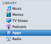 mac itunes apps option