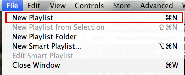 mac itunes file new playlist