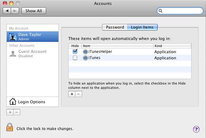 mac login launch itunes 9