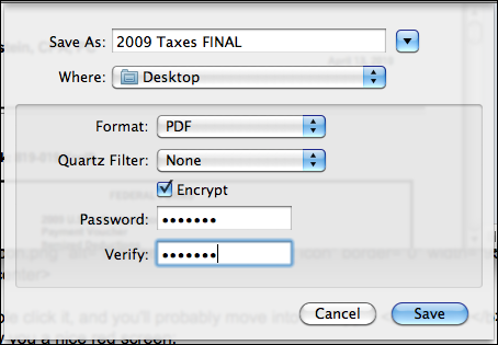 mac preview file save as encrypt protect