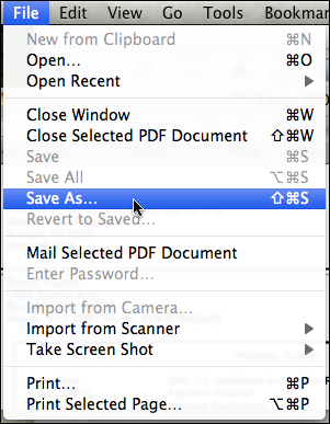 mac preview file save as
