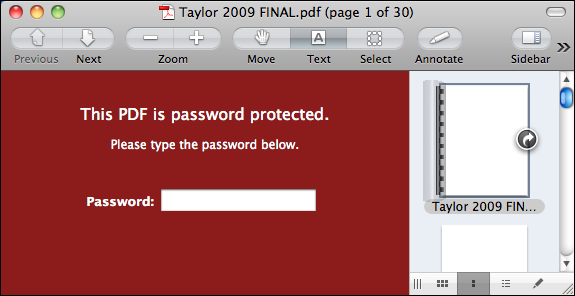 mac preview password protected pdf