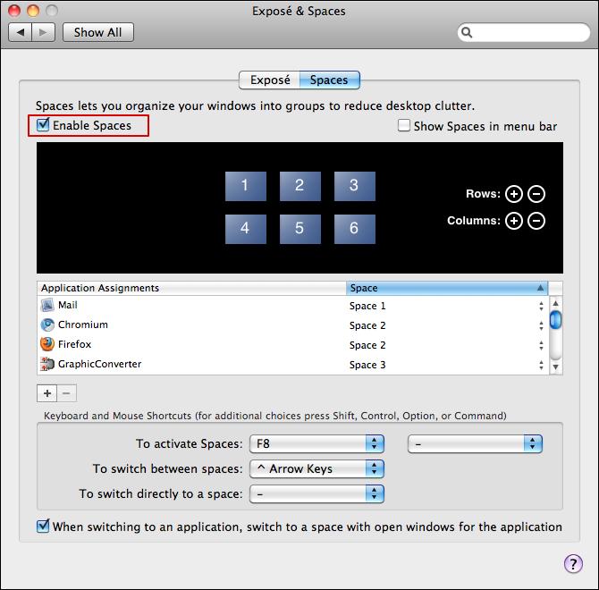 mac spaces 2