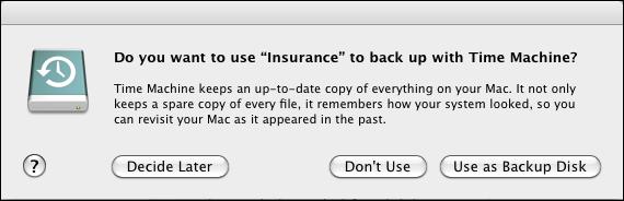 mac use external drive time machine
