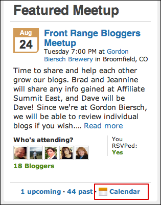 Can I subscribe to a Meetup com group calendar in iCal? - Ask Dave