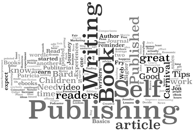 self publishing word cloud