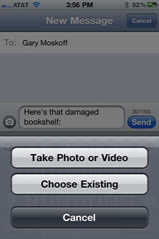 iphone 5 how to send a txf