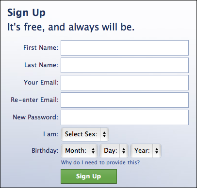 Now, on to Facebook. Let me show you how to sign up for a Facebook ...