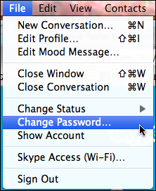skype change password 1