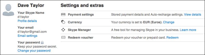 skype change password 4