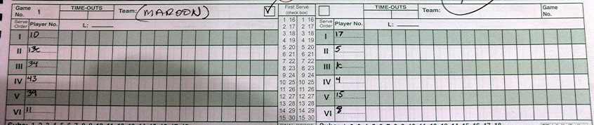 volleyball scoring blank across