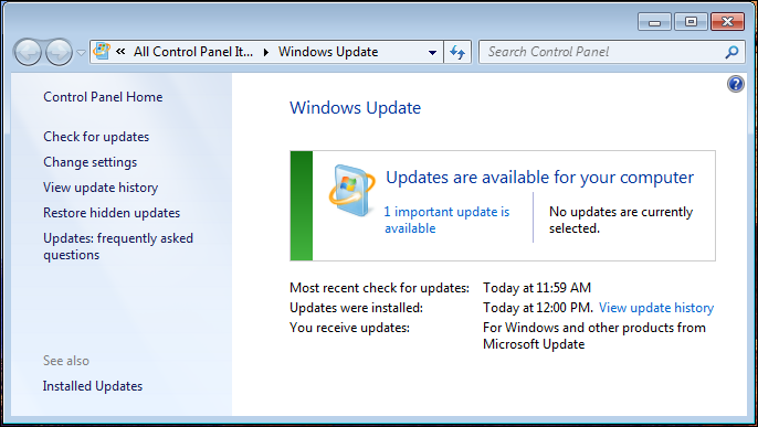 windows 7 disable autoupdate 2