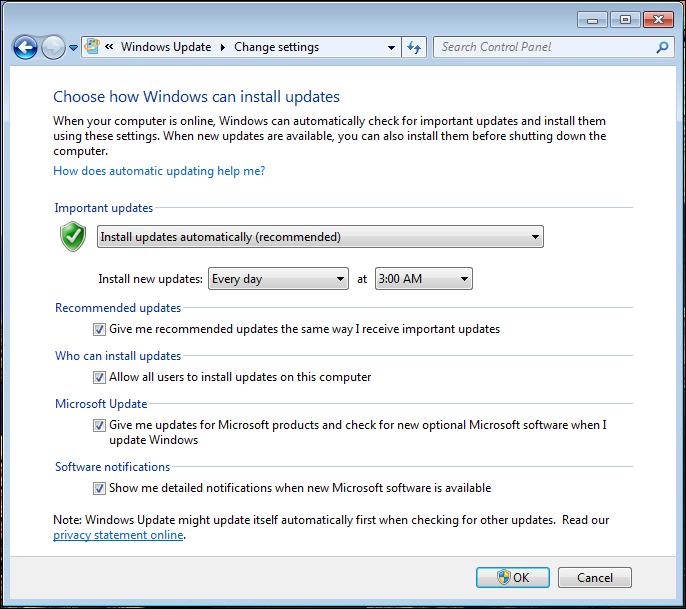windows 7 disable autoupdate 3