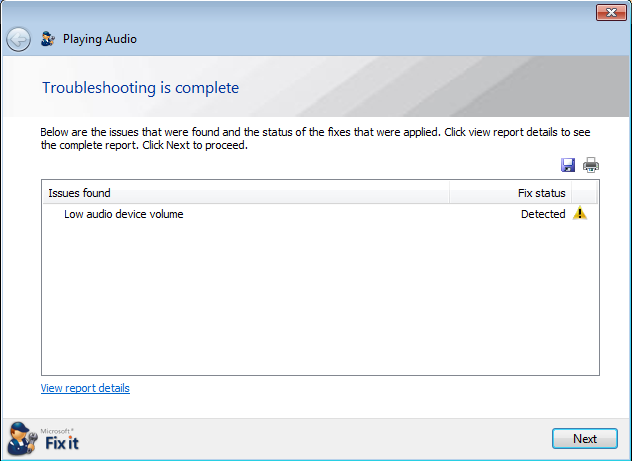 windows 7 xp sound troubleshooting tool 9c