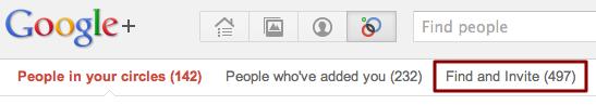 add user google plus invite 2