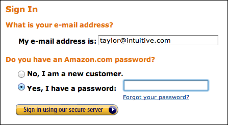 amazon change password sign in