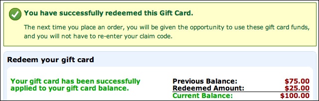 Apply An Amazon Gift Code Card Certificate To My