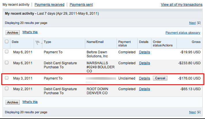 Can I cancel a Paypal send money payment? - Ask Dave Taylor