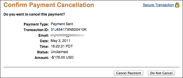 cancel paypal send money 4