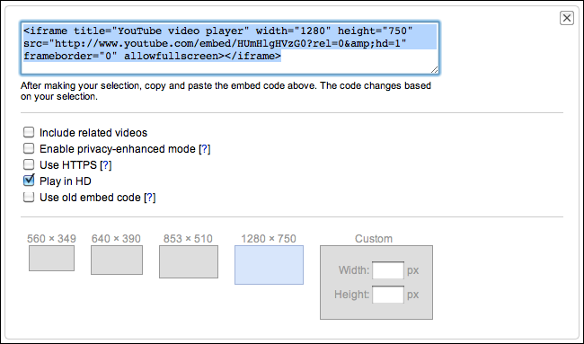 embed youtube video blog 3
