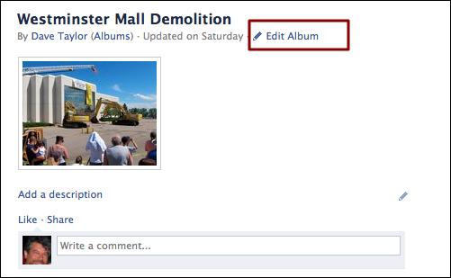 Delete photo album from facebook