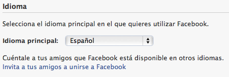 facebook fix default language spanish english 7