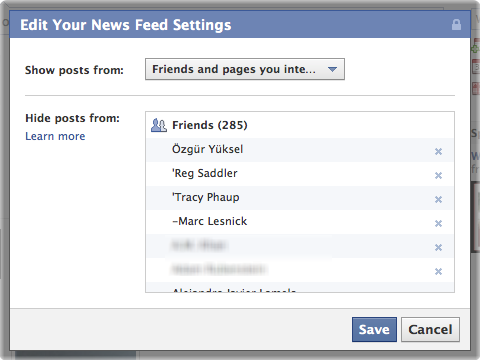 facebook hide unhide newsfeed friend 4