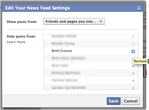 facebook hide unhide newsfeed friend 5
