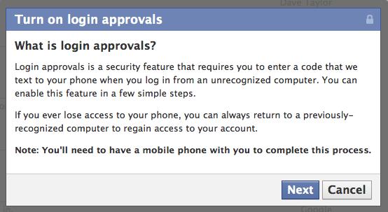 facebook login cellphone sms 3