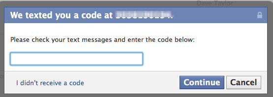 facebook login cellphone sms 6