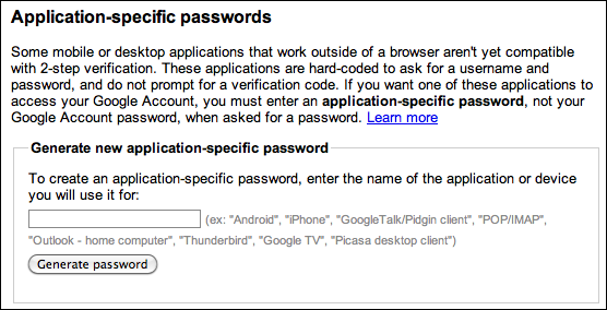 google accounts 2 step verification app password 4