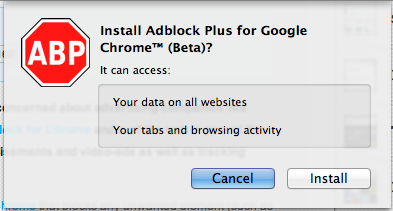 adblock plus install chrome