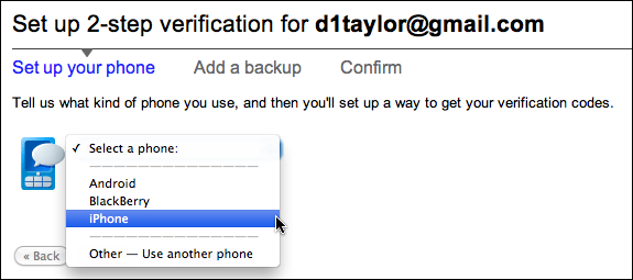 google gmail 2 step verification 4