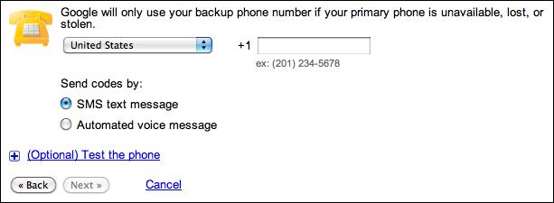 google gmail 2 step verification 9c