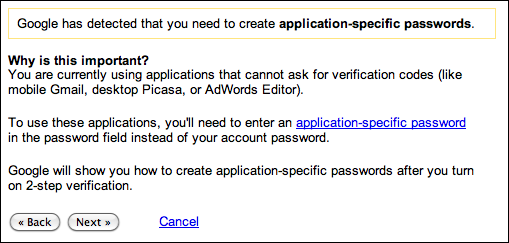 google gmail 2 step verification 9d
