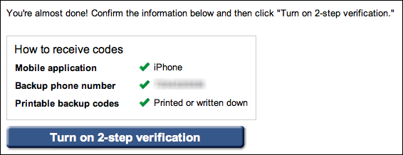 google gmail 2 step verification 9e