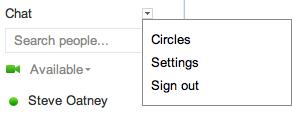 google plus configure chat 3