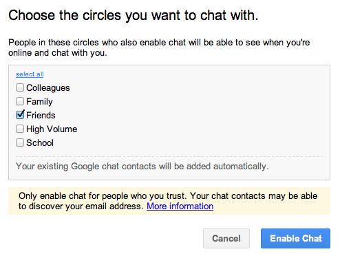 google plus configure chat 4