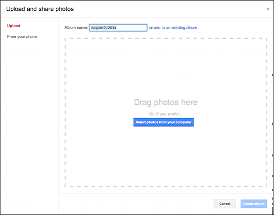 how to add picture to google account