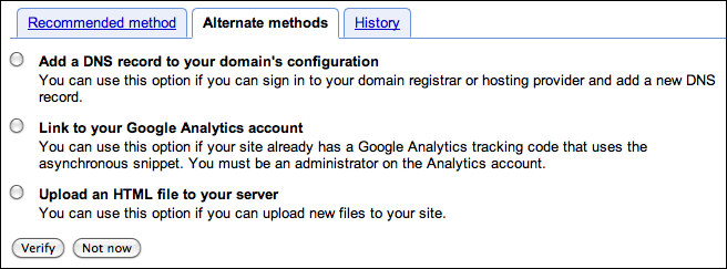 google webmaster verify site 3