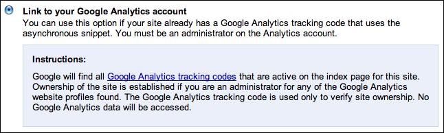 google webmaster verify site 4