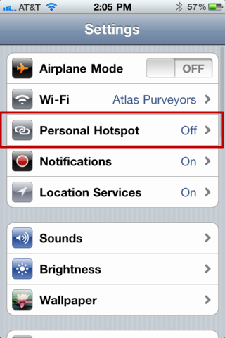 how to turn on mobile hotspot on ipad 2