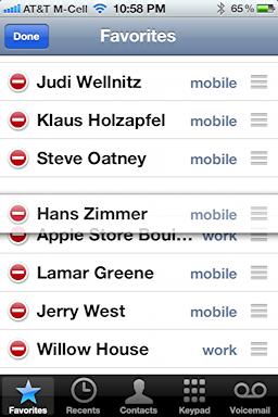 iphone add delete favorites 3