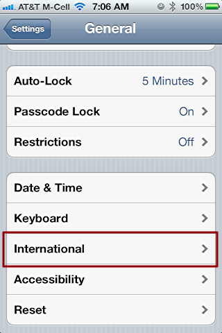 iphone change language settings 2