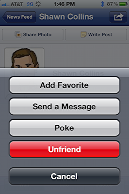 iphone facebook unfriend 3